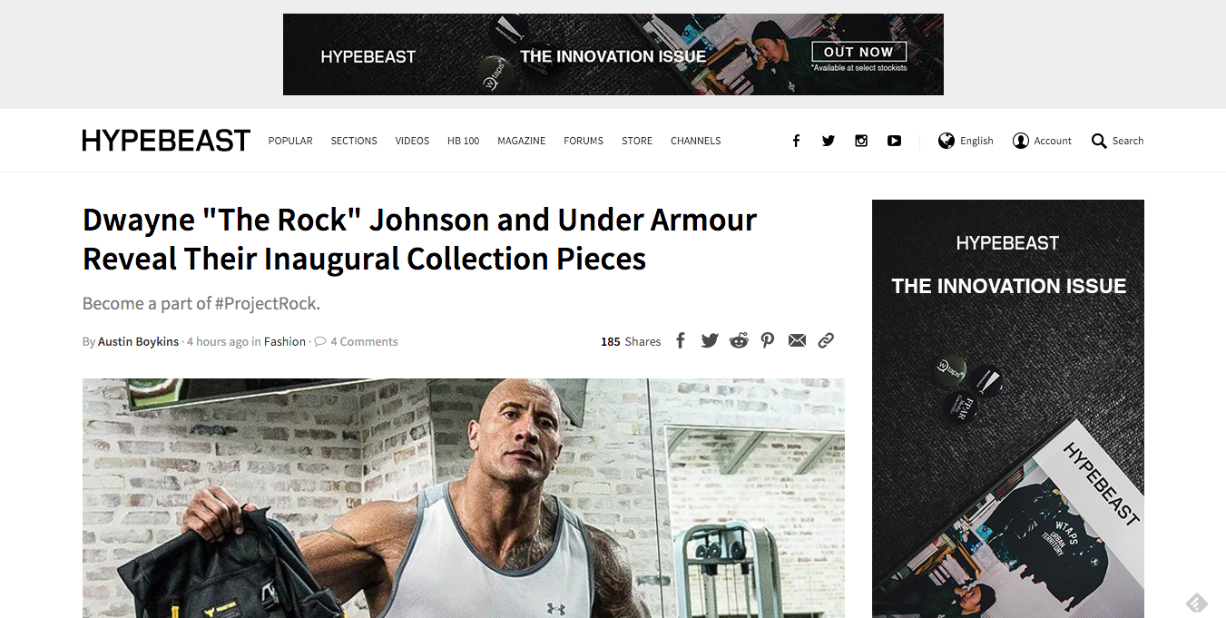 The Rock Under Armour Reveal Collection Pieces